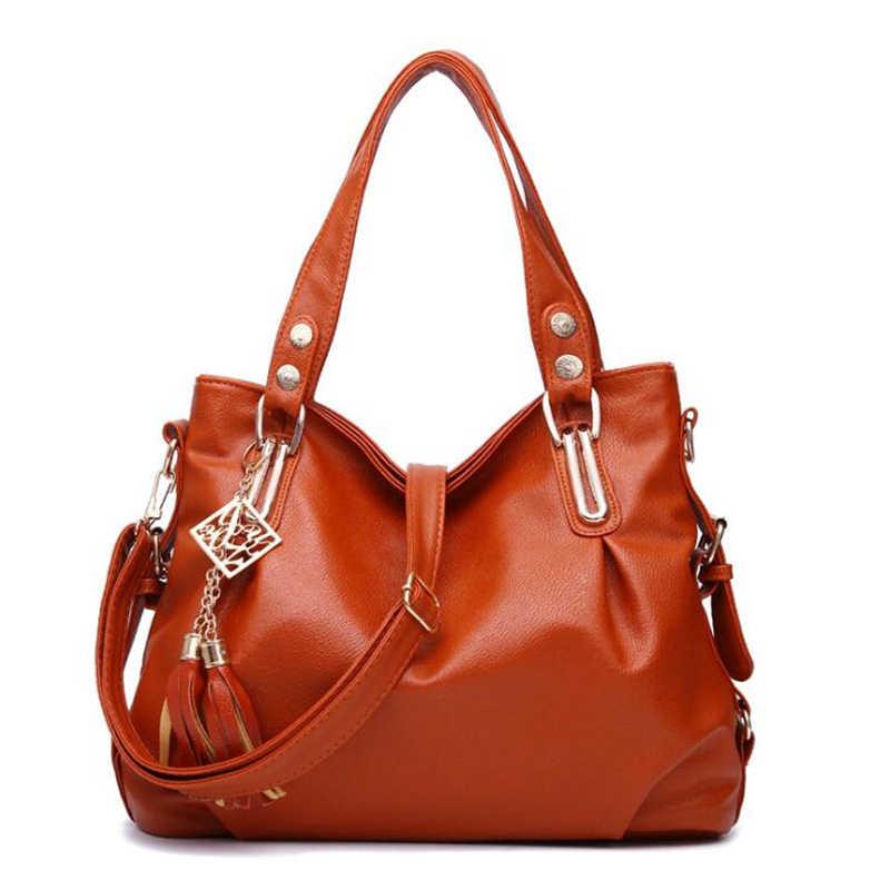 21 CLUBE Marca Médio Grande capacidade de Borla Casuais Cor Sólida Senhoras Totes Compras Mulheres Messenger Bags Feminino Bolsas de Trabalho