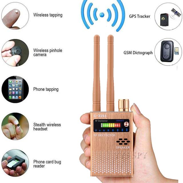 Dual Antenna RF Signal Anti Spy Hidden Camera Anti Candid Camera Detector Eavesdropping Pinhole Audio Bug GPS GSM Device Finder 1