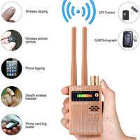 Double antenne RF Signal Anti espion caméra cachée Anti caméra candide détecteur écoute sténopé Audio Bug GPS GSM dispositif Finder