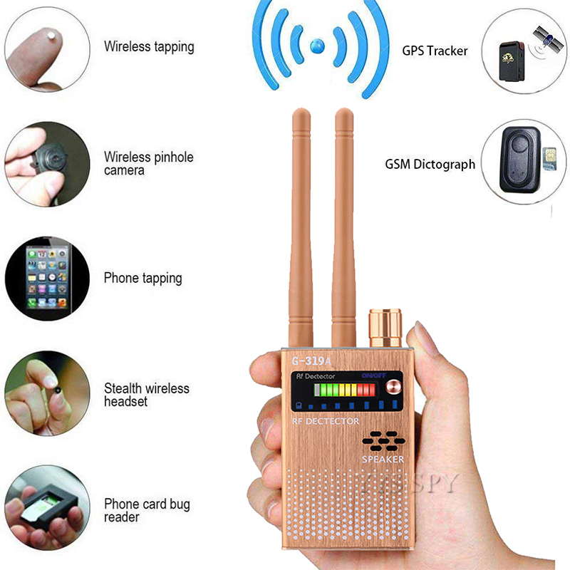 Dual Antenna RF Signal Anti Spy Hidden Camera Anti Candid Camera Detector Eavesdropping Pinhole Audio Bug GPS GSM Device Finder