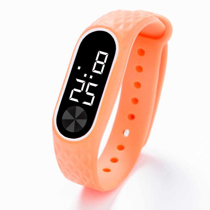 LED affichage numérique montre de sport hommes femmes Fitness en cours d'exécution montre-Bracelet Bracelet enfants étudiants Gel de silice montres-bracelets