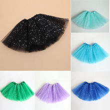Baby Kids skirt Girls Princess Stars Glitter Dance Tutu Skirt Party Dance Ballet Costume Dot Print Sequins Skirts Children(China)