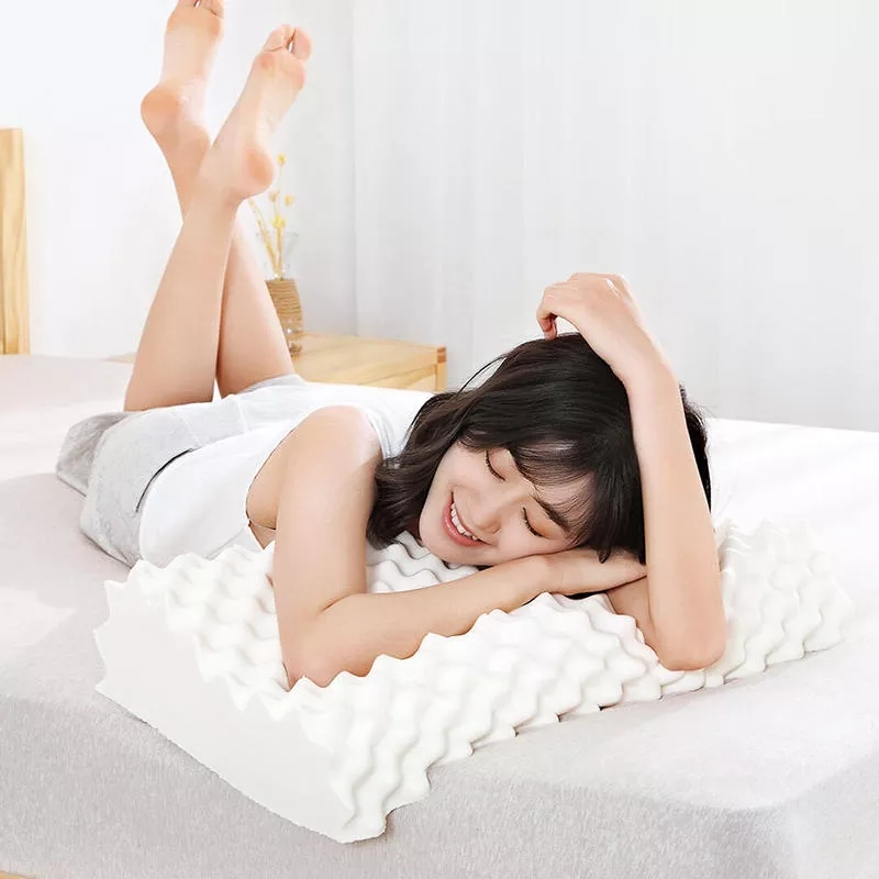 Original Xiaomi mi jia almohada protectora de látex Natural para el cuello S 65D almohada de látex para el cuidado de los niños y adultos almohada de cuello para uso en el hogar - 3
