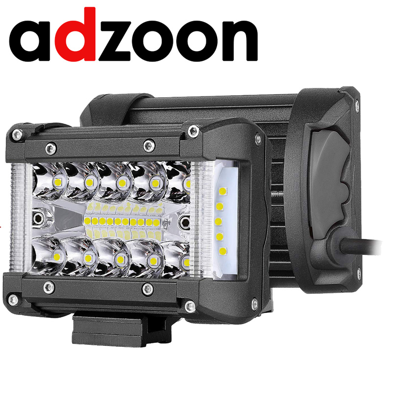 ADZOON 4inch Led Light Bar Offroad Spot Work Light 90W Barre Led Working Lights Beams Car Accessories for Truck ATV 4x4 SUV 12V