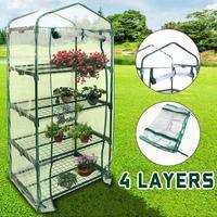 Four Floors Green Household Plant Greenhouse Mini Garden Warm Room PVC Garden Warm Room 155x69x49CM
