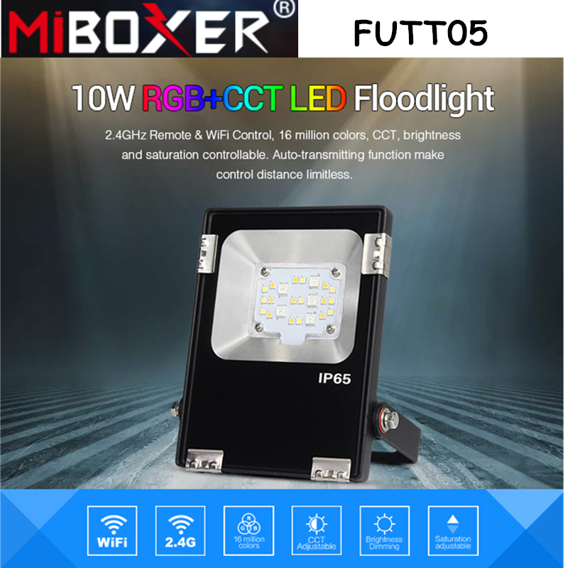 Miboxer FUTT05 10W RGB+CCT LED Floodlight AC100~240V IP65 Waterproof Pulic Lamp Archittectural Light Outdoor Lighting For Garden