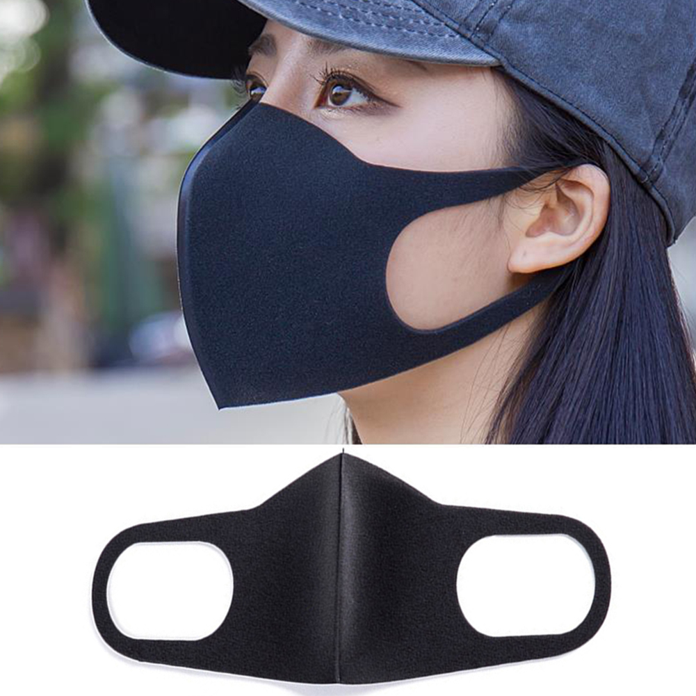 3Pcs Washable Earloop Mask Outdoor Anti Dust Mouth Face Mask Adult Kids Health Dustproof Anti-Dust Cold Prevention Black Masks