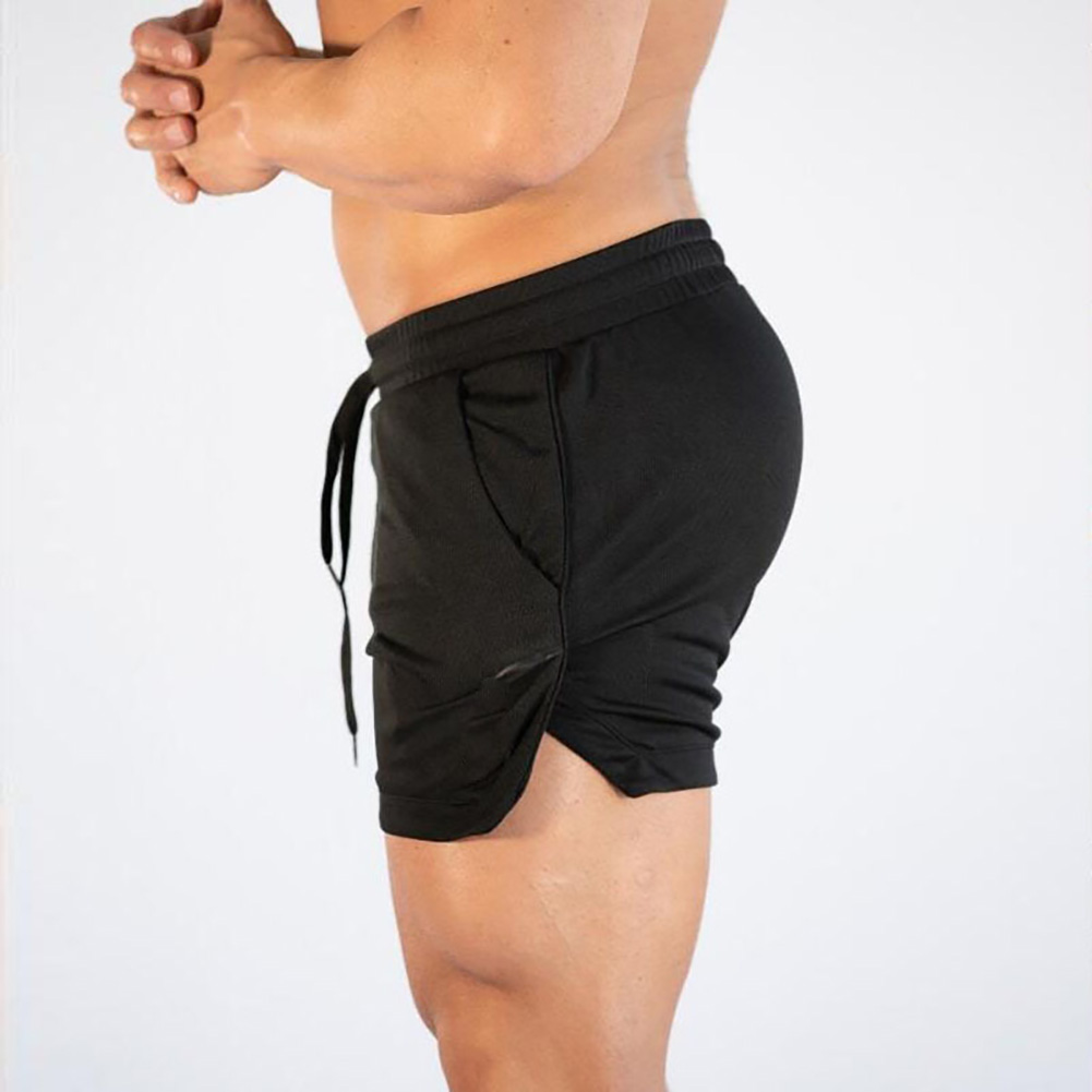 Swimsuit Bodybuilding Shorts Running Workout Gym Men Waist Elastic Fitness Thin Quick-Drying