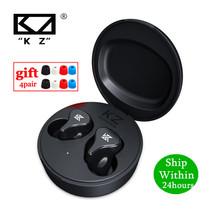 KZ Z1 Pro TWS Bluetooth 5 2 prawdziwe bezprzewodowe słuchawki gry douszne sterowanie dotykowe sportowy zestaw słuchawkowy z redukcją szumów KZ S2 S1 ZSX DQ6 tanie tanio NONE Dynamiczny CN (pochodzenie) Prawdziwie bezprzewodowe 115dB Do gier wideo do telefonu komórkowego Słuchawki HiFi Etui ładujące