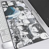 Death Note-alfombrilla grande para el ratón MatsKira, accesorio de ordenador portátil para jugador de Anime, 900x400x2mm