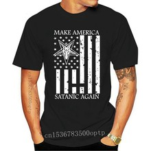 Make Satanic Great Again T-Shirt Funny Gift For Men Size S-5Xl Street Tee Shirt