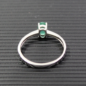Image 3 - Promotion natural emerald wedding ring for woman 0.4 ct 4mm*6mm natural I grade emerald solid 925 silver emerald gemstone ring