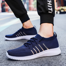 men sneakers Mesh Breathable Flyweather zapatos de hombre Footwear Comfortable Outdoor sport shoes zapatillas mujer deport big()