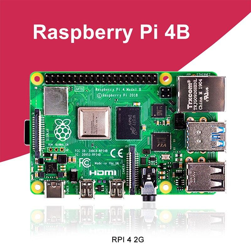 Nowy Raspberry Pi 4 Model B 2GB RAM BCM2711 czterordzeniowy Cortex-A72 ARM v8 1.5GHz obsługa 2.4/5.0 GHz WIFI Bluetooth 5.0
