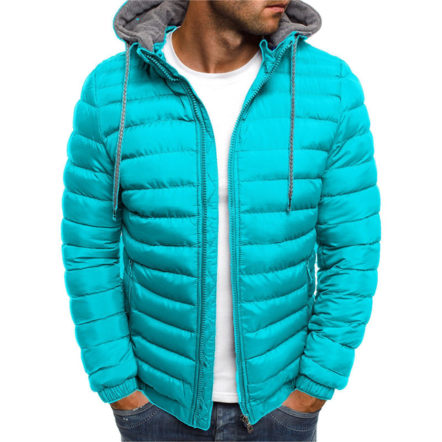 NaranjaSabor Fleece Parka Coat Mens 2020 Winter Thick Hooded Cotton Outwear Men Fashion Jacket Male Casual Brand Clothing N604 2