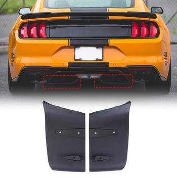 1 Pair ABS Rear Bumper Lip Air Diffuser Valance Foil Kit For Ford For Mustang  2018 2019 GT R Style