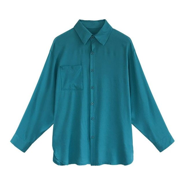 2020 Autumn Elegant Long Sleeve Solid Chiffon Blouse Female Work Wear Shirts Blouse Turn-down Collar Shirts Plus Size 4XL K113 5