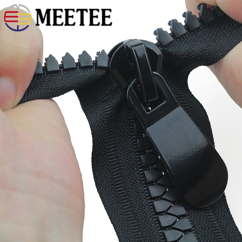 Meetee 15 70cm Resin Zippers Double Slider Open end Auto Lock Long Zip for Jacket Outdoor Tent Coat Backpack Sewing Accessories in Zippers from Home Garden