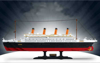 2020 Titanic RMS cruise Boat ship City Model building kits 3D Blocks Educational Figures diy toys hobbies for children Bricks