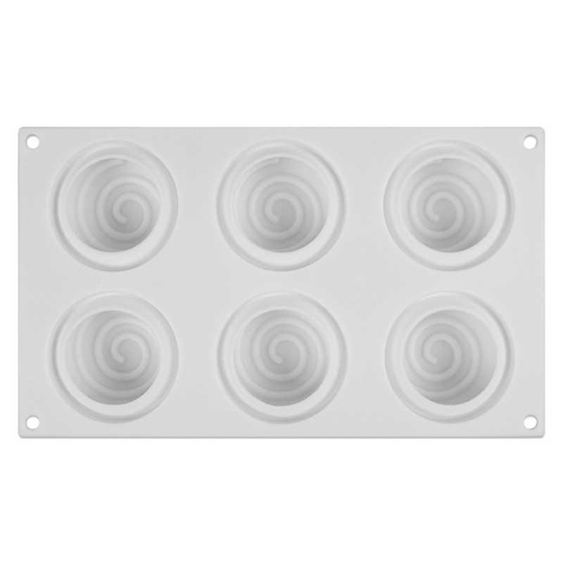 3D Rotonda Idromassaggio Muffa Del Sapone Del Silicone Per Turbinio di Fabbricazione del Sapone FAI DA TE Sapone Fatto A Mano Candela Del Mestiere Che Decora Muffa