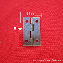 50Pcs 19*29mm Furniture Hinge Cabinet Drawer Door Butt Hinge Antique Bronze Decorative Hinges for Jewelry Box Furniture Hardware 2pcs naierdi antique bronze hinges cabinet door drawer decorative mini hinge for jewelry storage wooden box furniture hardware