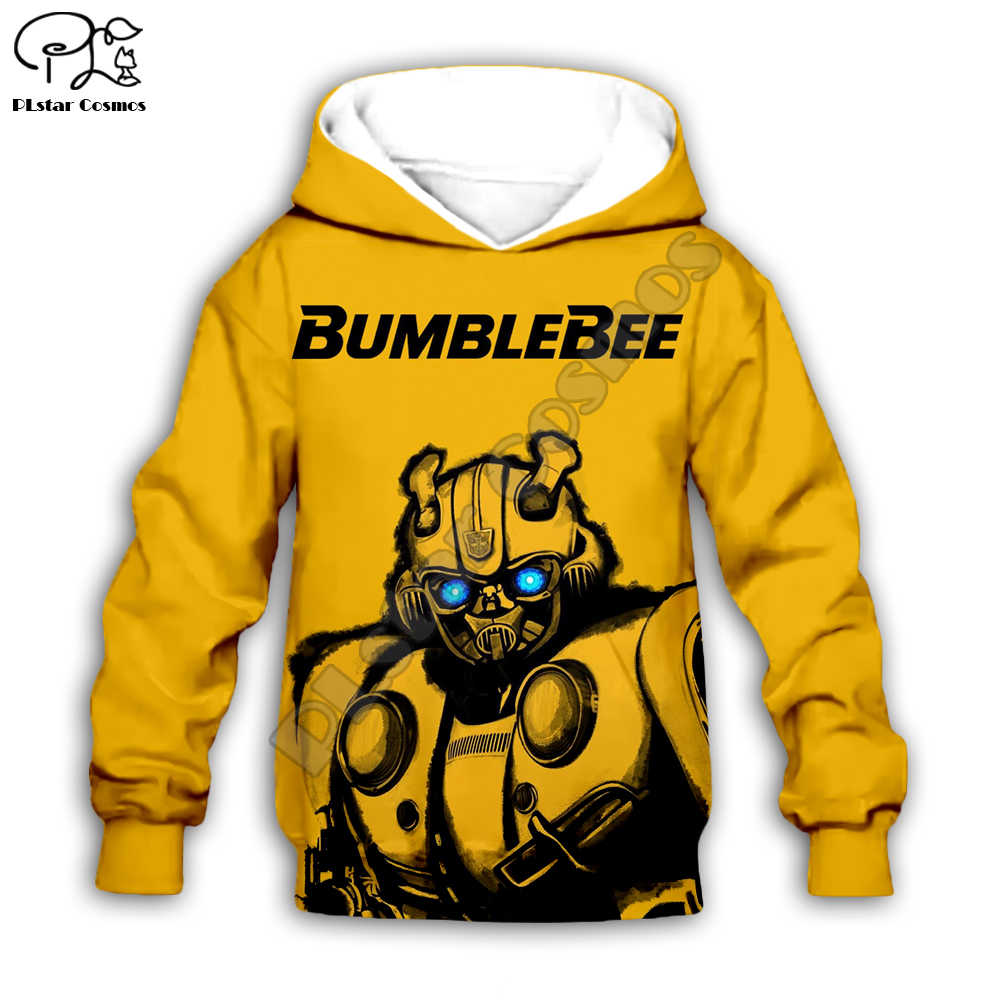 HOT Transformers Cosplay Costume 3D Sweatshirt Bumblebee Hoodie Jacket CAR Coat