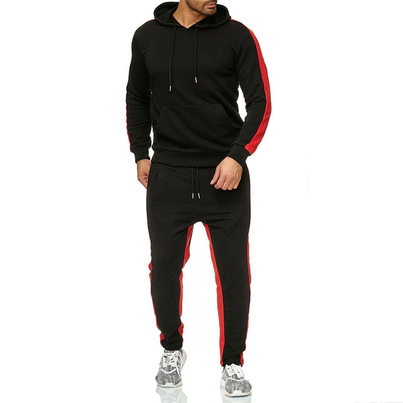 2020 Sport Suit Hoodie  Hooded Men Streetwear Casual Cotton Fall Winter Warm Sweatshirts Men's Casual Tracksuit Costume