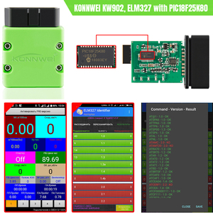 Image 5 - KONNWEI ELM327 V 1,5 OBD2 Scanner KW902 Bluetooth Autoscanner PIC18f25k80 MINI ULME 327 OBDII KW902 Code Reader für Android Handy