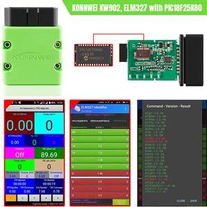 Image 5 - Konnwei ELM327 V1.5 OBD2 スキャナKW902 bluetooth autoscanner PIC18f25k80 ミニelm 327 obdii KW902 コードリーダーandroid携帯