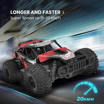 DEERC 1/16 Scale Racing RC Car 20 KM/H RC Buggy Truck 30 Mins Play Time All Terrains Off Road Truck Car Drift For Children deerc 1 22 racing rc car rock crawler radio control truck 60 mins play time 20 km h 2 4 ghz drift buggy toy car for kids