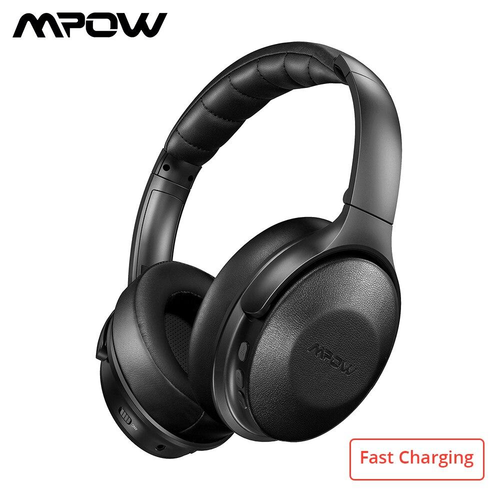 ANC H17 Mpow fone de Ouvido Sem Fio Bluetooth Fones De Ouvido de Carregamento Rápido Cancelamento de Ruído Ativo Fone de Ouvido Para Huawei P30 Pro iPhone X 7