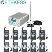 Retekess Wireless FM Transmission System TR502 15W FM Transmitter+10pcs PR13 Radio +Antenna for Church Meeting Translation