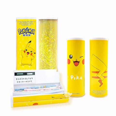2020 senha kawaii pikachu caixa de lapis areia movedica calculadora solar alta capacidade espelho material