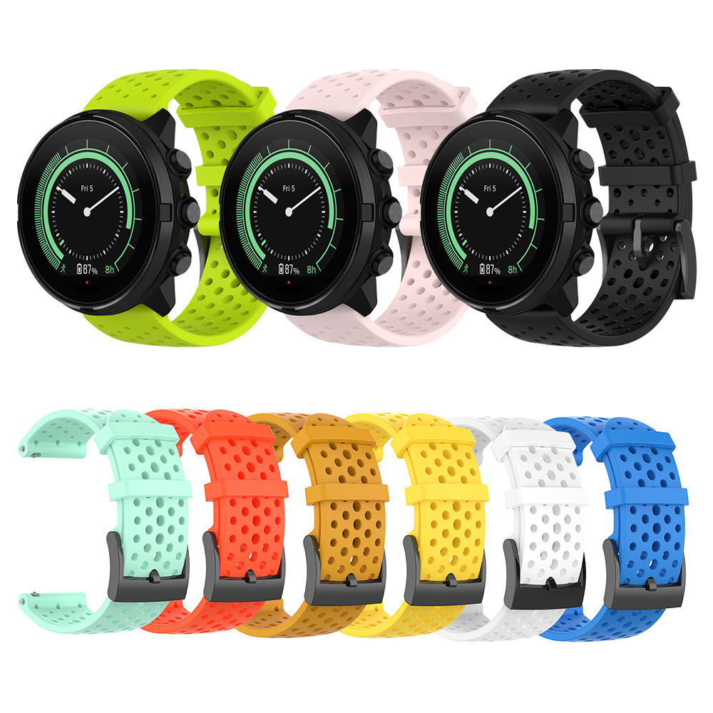 24MM ATHLETIC SILICONE STRAP For Suunto Spartan Sport Suunto Spartan Sport Wrist HR/Baro Band For Suunto 9 D5 Replace Watchband