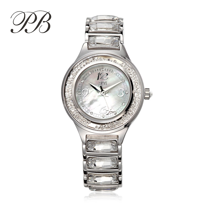 PB Luxury Brand Watch Bracelet OEM Gold Plated&Pearl Waterproof Quartz Ladies Watch Rose Gold Last Piece Reloj женские часы|watch brand|watch brand women|watch f - title=