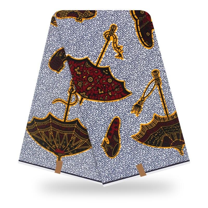 100% Cotton Tissus Wax Print 6yard/lot Nigerian Ankara Fabrics 2019 Latest Tissus Wax Prints African Cotton Material