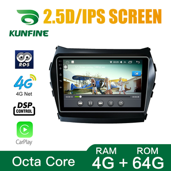 Car Radio For Hyundai IX45 Santafe 12-16 Octa Core Android 10.0 Car DVD GPS Navigation Player Deckless Car Stereo Headunit image