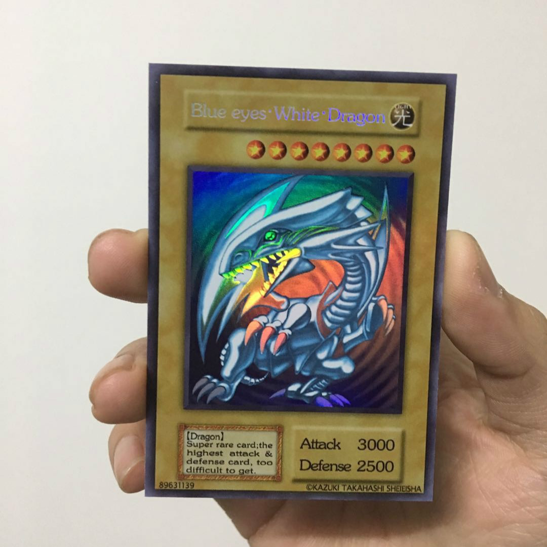 Yu Gi Oh Blue Eyes White Dragon English DIY Colorful Toys Hobbies Hobby Collectibles Game Collection Anime Cards