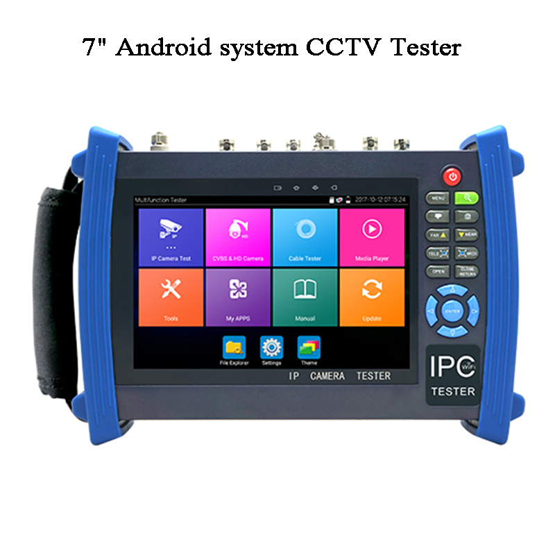 7 Inch H.265 Security Video Camera Tester CVI TVI AHD SDI Test Wireless IP Scan ONVIF HDMI POE RJ45 IPC Test Android CCTV Tester
