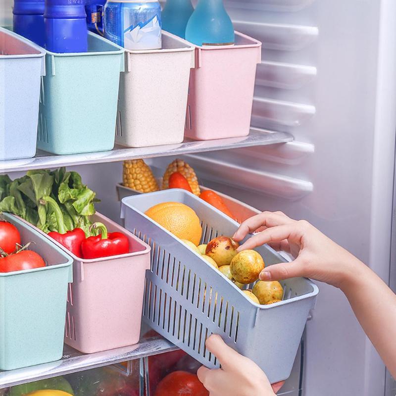 Корзина с 4 отверстиями, органайзер для холодильника, выдвижной ящик, держатель для бутылки для напитков, хранение овощей, слив, кухонный Орг...