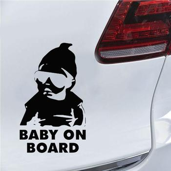 15X10cm Cool Boy Baby on Board Car Vehicle Body Window Reflective Decals Sticker Decoratio Car Exterior 2019 New Funny Sign image