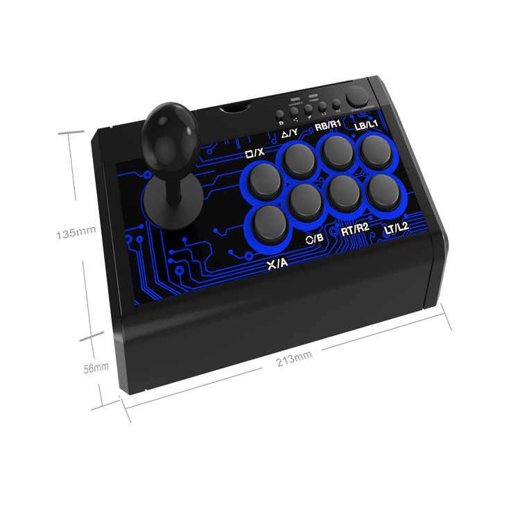 7 In 1 Retro Arcade Stasiun Pertempuran Tongkat Permainan Joystick USB Kabel Rocker untuk PS3/PS4/Switch/ XBOXone (S) /360/PC/Android Permainan
