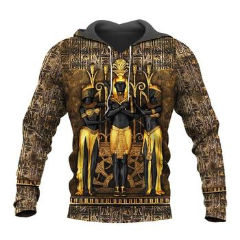 3D Retro Ancient Egypt Pharaoh Hoodie 1