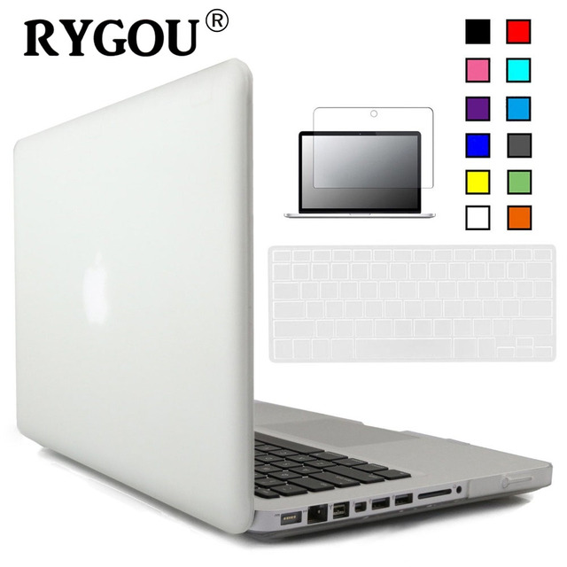 RYGOU Crystal Clear Matte Hard Case Cover For Macbook Pro 13 inch A1278 Keyboard Cover+Screen Protector for Mac Book Pro 13 Case