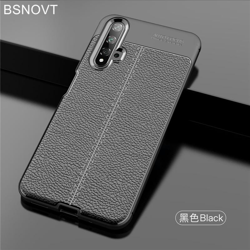 """For Huawei Nova 5T Case shockproof Soft PU Leather Silicone Bumper Case For Huawei Nova 5T Cover For Huawei Nova 5T 6.26"""" BSNOVT"""
