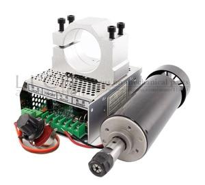 Image 5 - O envio gratuito de 0.5kw ar refrigerado eixo er11 chuck cnc 500w eixo do motor + 52mm braçadeiras fonte alimentação regulador velocidade para diy cnc