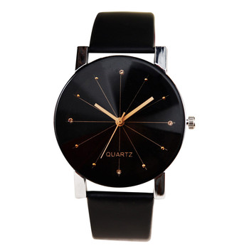 Men Women Watch Luxury Design Leather Strap Line Analog Quartz Ladies Wrist Watches Fashion Couple Watches Montre Femme Relogio 2