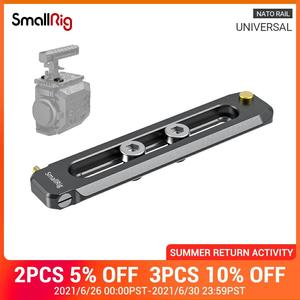 """Image 1 - SmallRig Low profile 90mm Long NATO Rail 6mm Thick Quick Release Nato Rail With 1/4"""" 20 Mounting Hole For NATO Clamp/Handle 2484"""