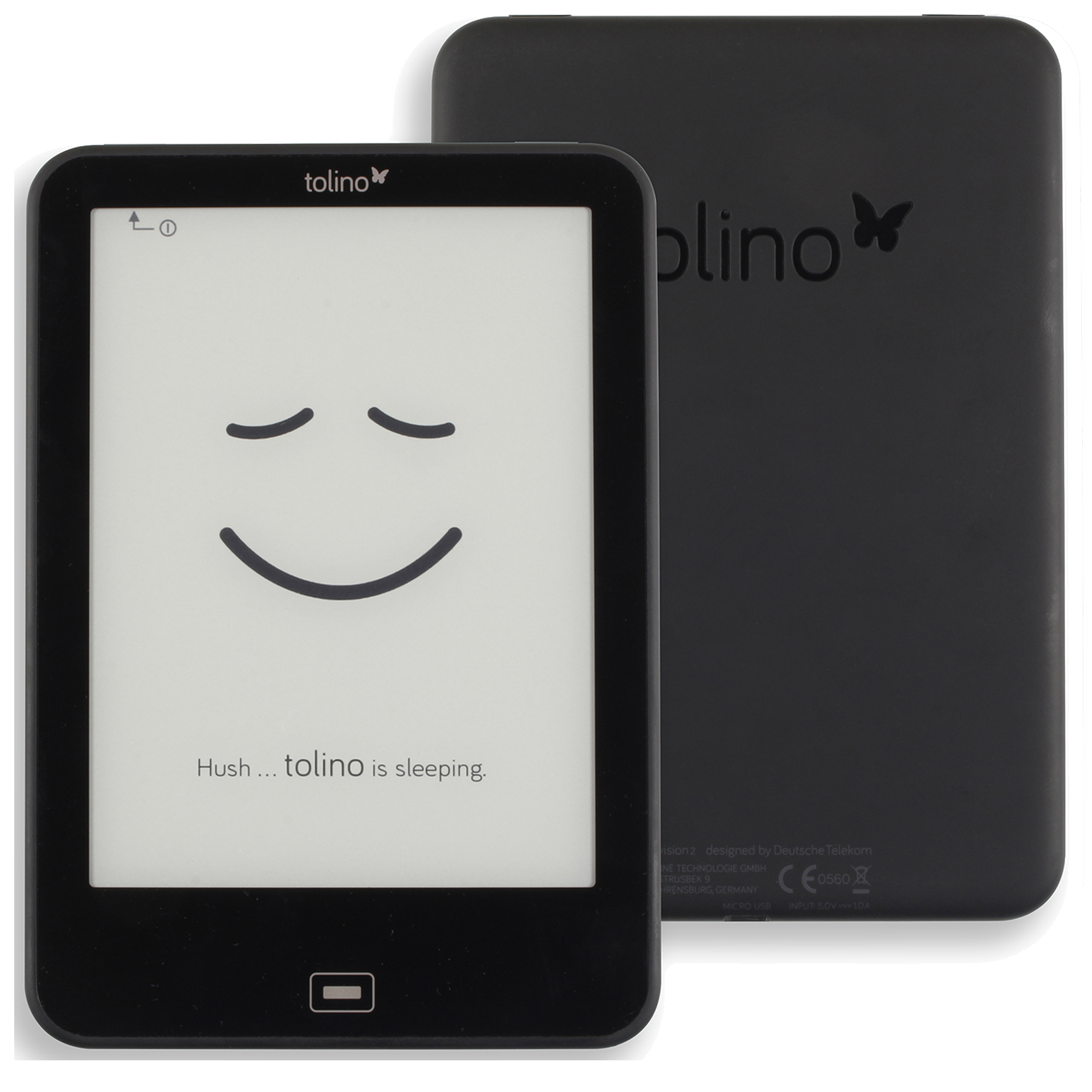 Daily waterproof Tolino Vision 2 e reader e-ink 6 inch 1024x758 touchscreen ebook Reader WiFi Tap2 cover for page turning!