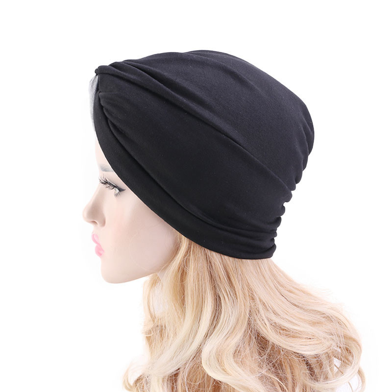 Hab1aed84c423455383f804f9f5351af18 - Muslim head scarves for women solid cotton inner hijab caps India bonnet vintage cross turban hijabs muslim islamic turbante hat